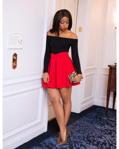 How-to-wear-red-and-black-fashionpolicenigeria