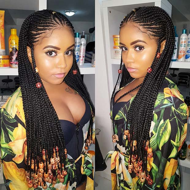 Gorgeous Braided Hairstyles With Beads You Need To Try Out The Lagos Stylist